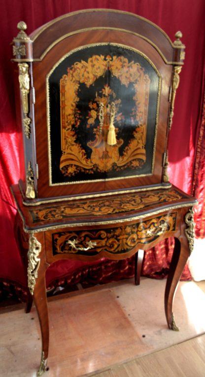 Table de secrétaire avec reproduction de style Louis XIV, début du 900ème, bonne qualité en très bon état