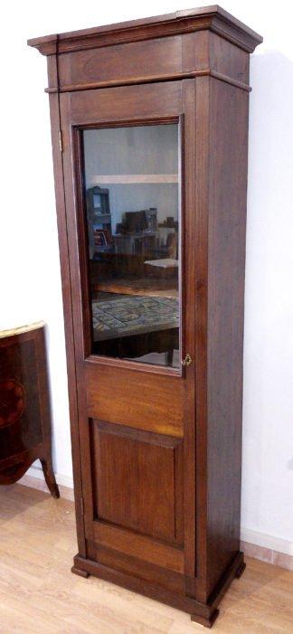 Bibliothèque vitrine classique en acajou italien